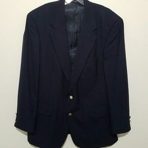 Burberry Suits & Blazers - Burberrys Mens Wool Blazer Suit Coat Jacket Blue